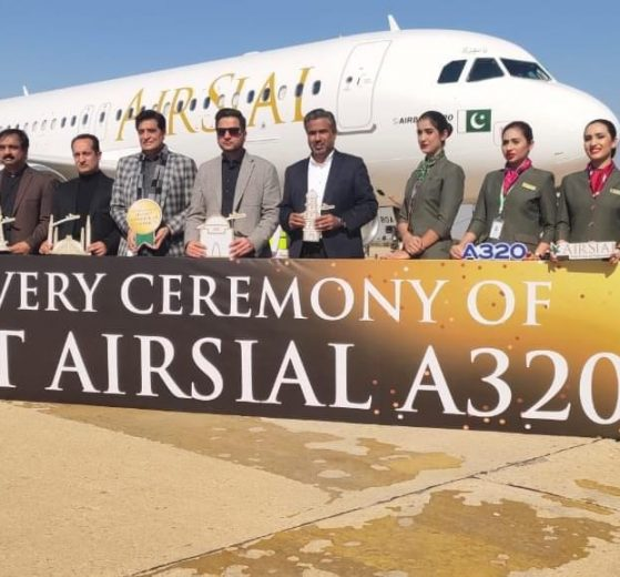 Air Sial Management with their first Aircraft