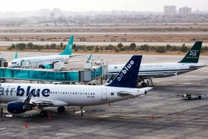 All three domestic airlines at Karachi domestic airport. Photo: Syed Shajie Hussain of PSPK