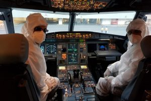 File Photo: Airblue cockit crew.
