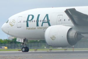 PIA Boeing 777 at Toronto Pearson International Airport. Photo: Abdul Haseeb Khan