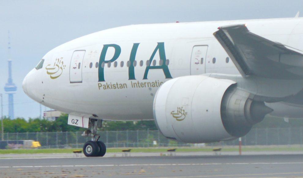PIA Boeing 777 at Toronto Pearson International Airport. Photo: Abdul Haseeb Khan