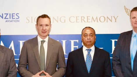 Moetesum Khurshid, CEO Menzies-RAS, Philipp Joeinig, Executive Chairman – Menzies Aviation, Shujaat Azeem, Chairman – Royal Airport Services, Charles Wyley, Executive Vice President Middle East, Africa and Asia – Menzies Aviation