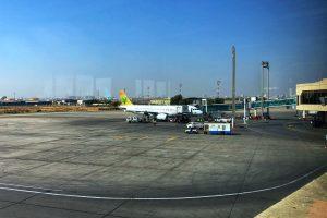 Air Sial Airbus A320 at Karachi Airport