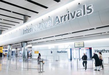 Heathrow Airport international arrivals